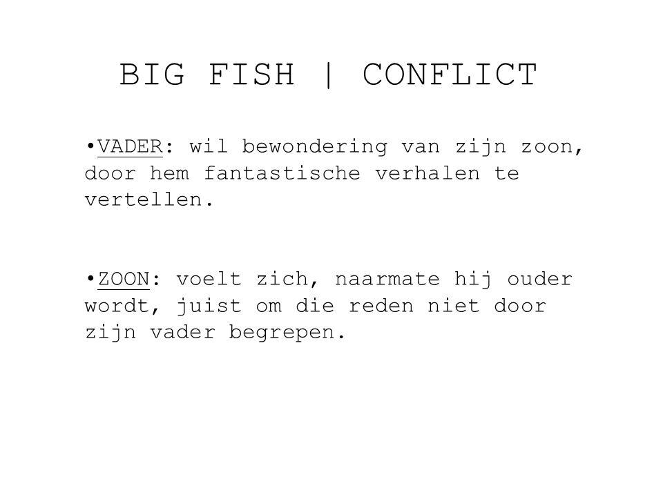 BIG FISH   CONFLICT VADER: wil bewondering van zijn zoon, door hem fantastische verhalen te vertellen.