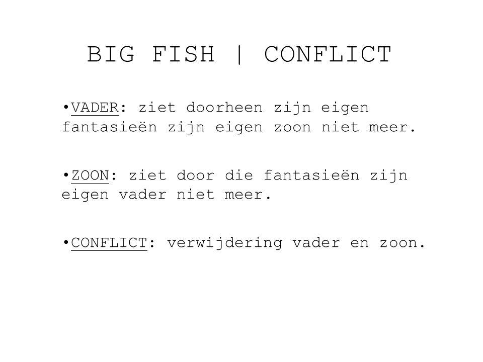 BIG FISH   CONFLICT VADER: ziet doorheen zijn eigen fantasieën zijn eigen zoon niet meer.