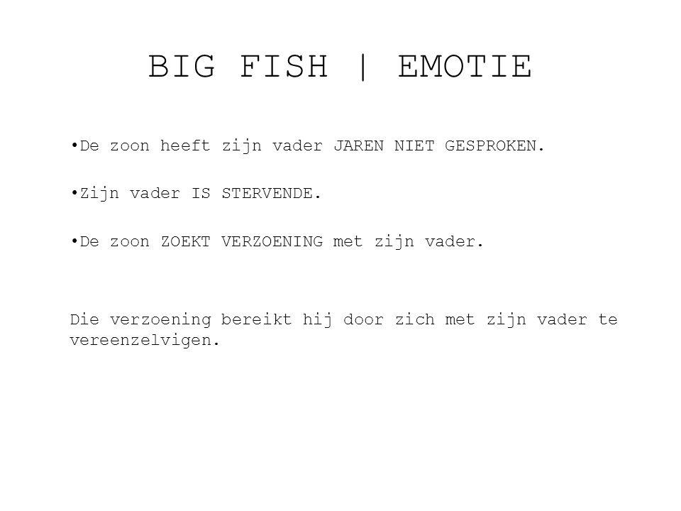 BIG FISH   EMOTIE De zoon heeft zijn vader JAREN NIET GESPROKEN.