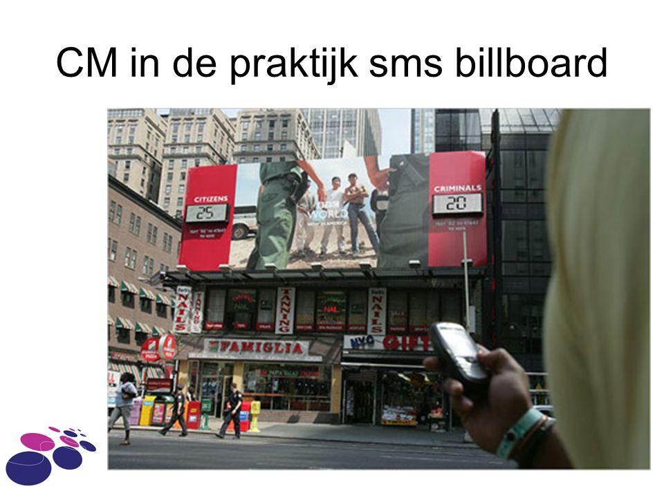 CM in de praktijk sms billboard