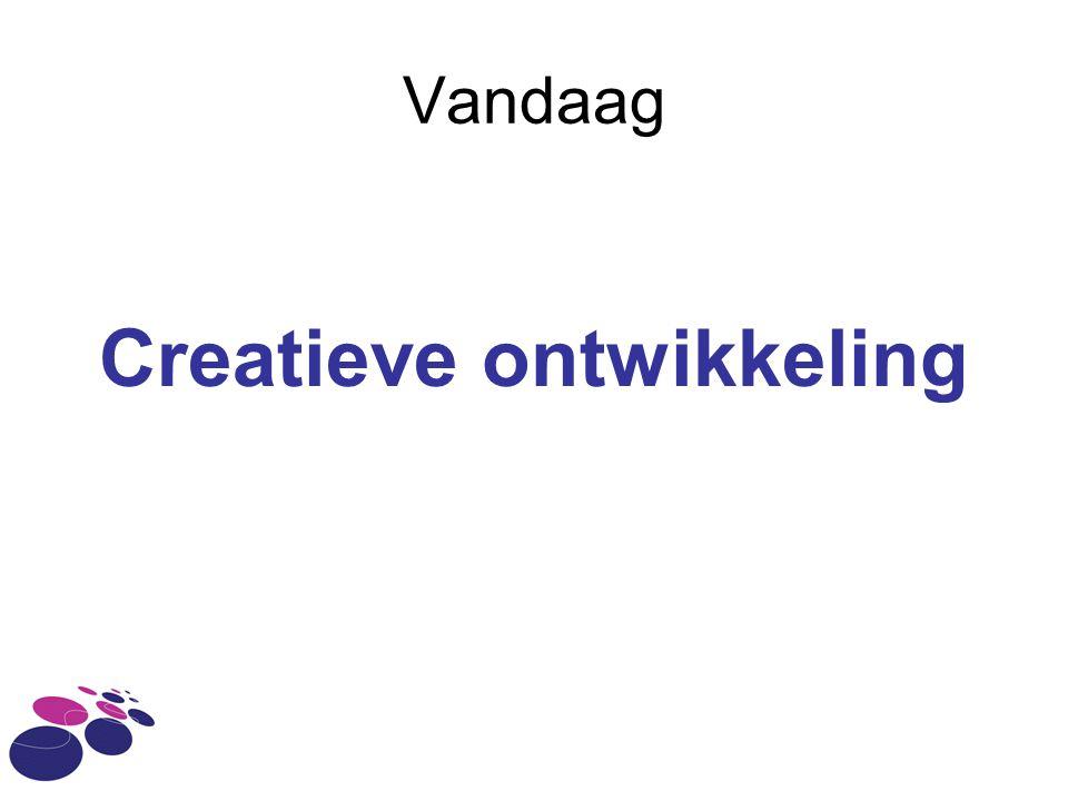 Vandaag Creatieve ontwikkeling