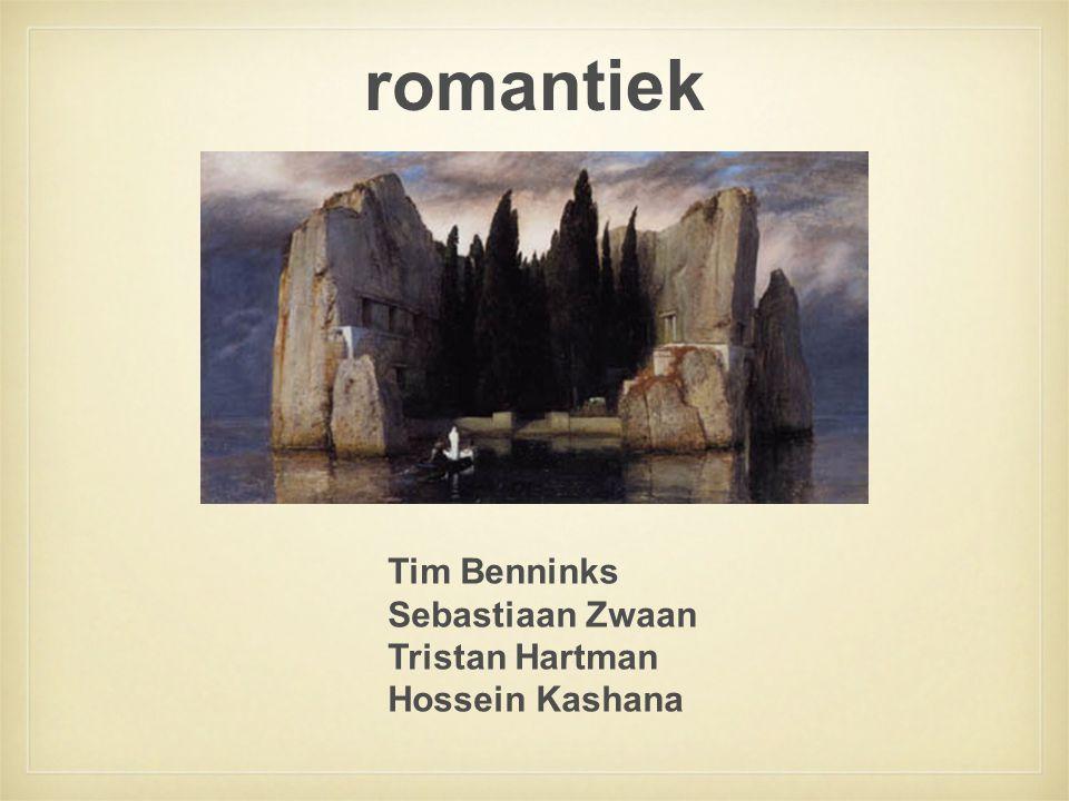 romantiek Tim Benninks Sebastiaan Zwaan Tristan Hartman Hossein Kashana