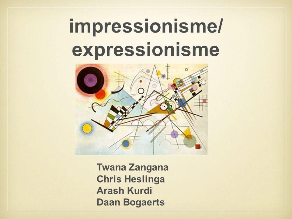 impressionisme/ expressionisme Twana Zangana Chris Heslinga Arash Kurdi Daan Bogaerts
