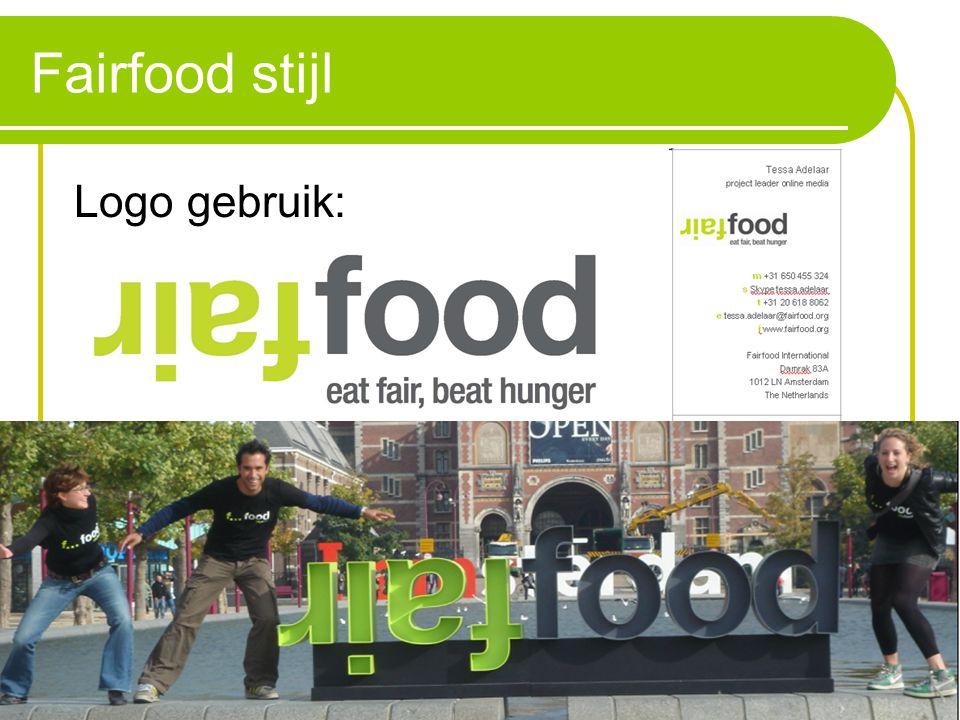 Fairfood stijl Logo gebruik: