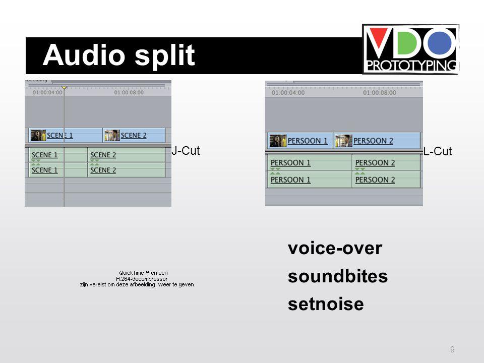 8 Audio Audio is belangrijk voor de belevenis en de interpretatie van de kijker: zie cinemania-online.nl SFX: free-loops.com partnersinrhyme.com music-for-video.com