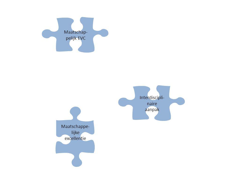 Maatschappe- lijke excellentie Interdiscipli- naire aanpak Maatschap- pelijk EVC