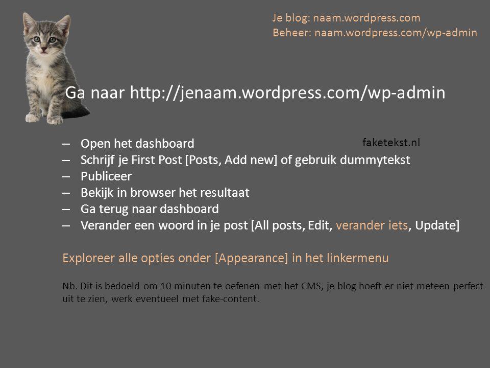 Anatomie van een weblog Header Body Footer Sidebar(s) Posts vs.