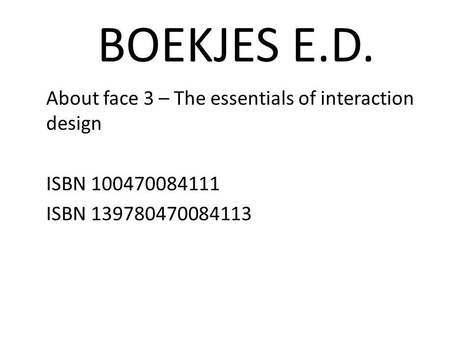BOEKJES E.D.