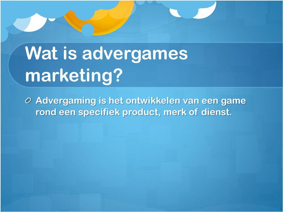 Wat is advergames marketing? Advergaming is het ontwikkelen van een game rond een specifiek product, merk of dienst.