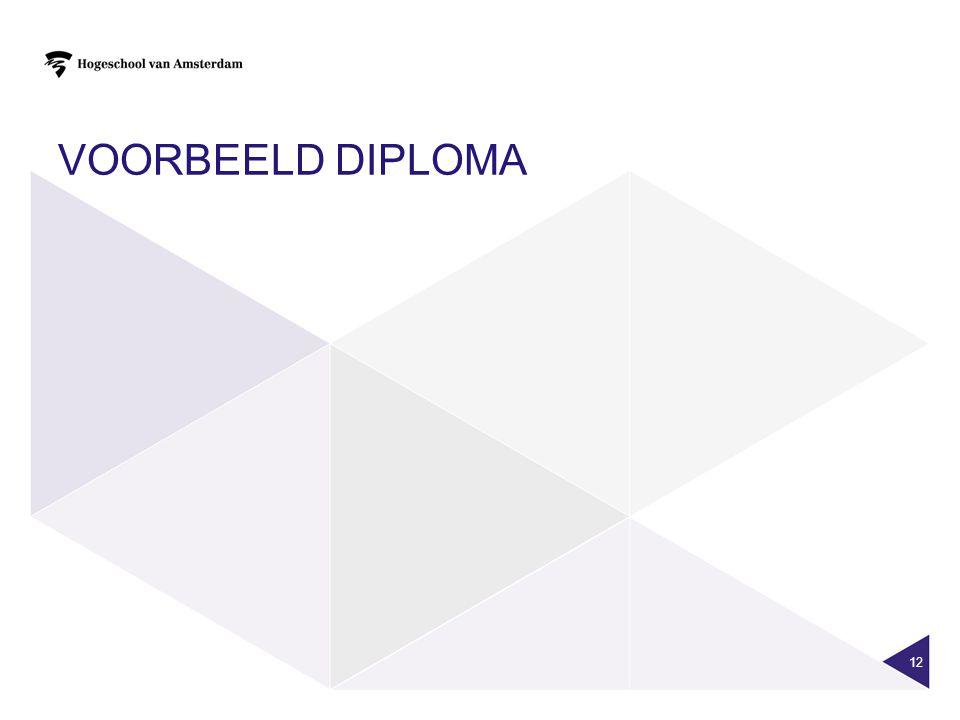 VOORBEELD DIPLOMA 12