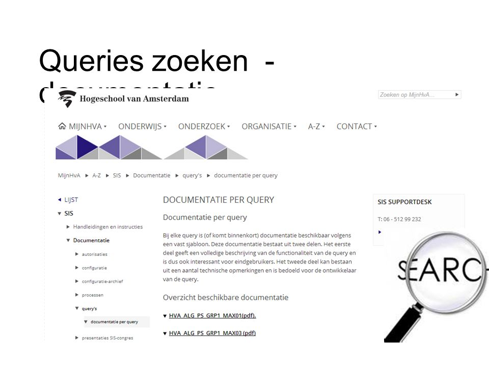 Queries zoeken - documentatie