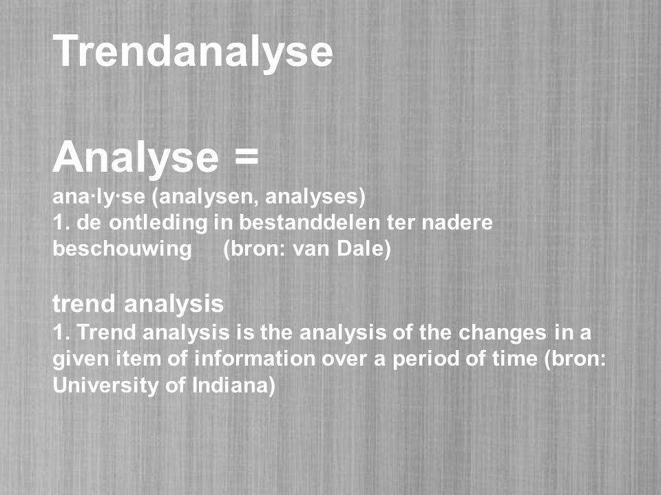 Trendanalyse Analyse = ana·ly·se (analysen, analyses) 1.