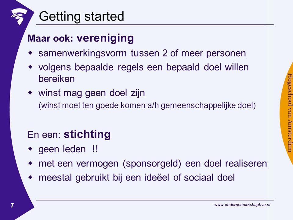 www.ondernemerschaphva.nl 8 Voorbeeld 1