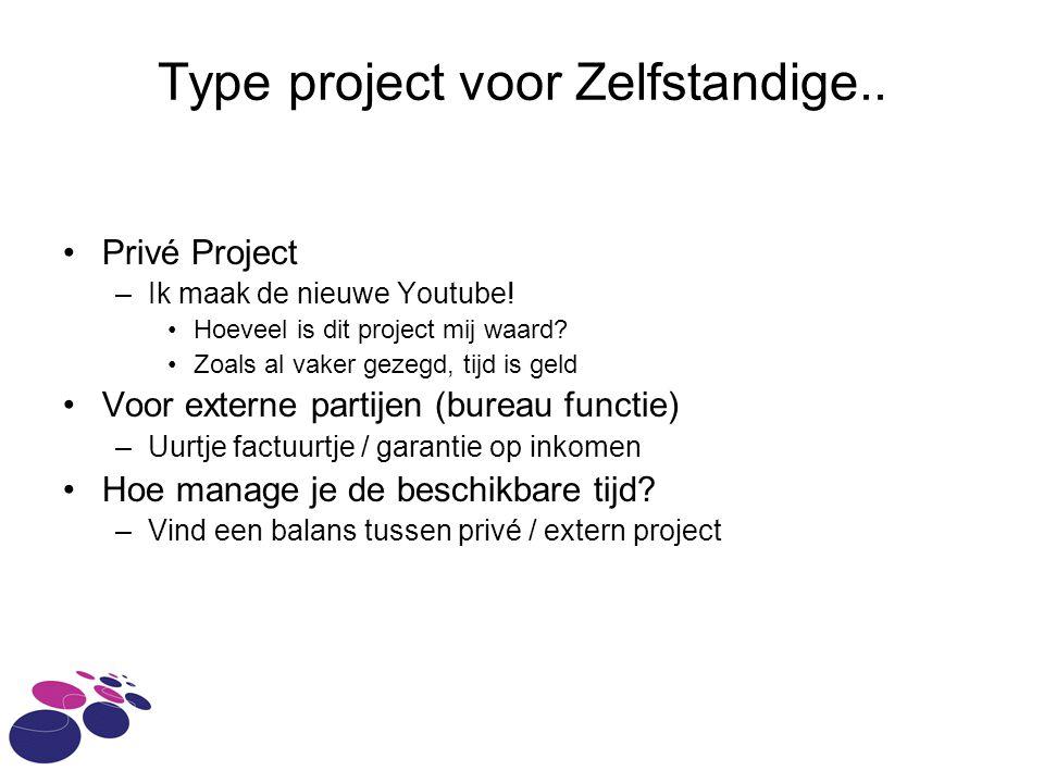 Type project voor Zelfstandige.. Privé Project –Ik maak de nieuwe Youtube.