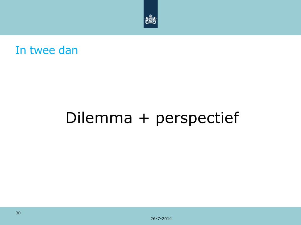 In twee dan Dilemma + perspectief 26-7-2014 30