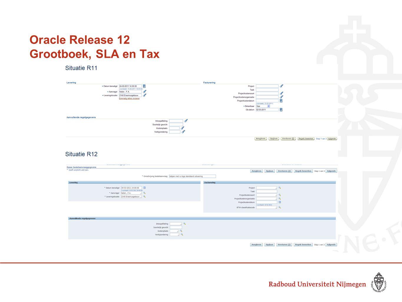 Oracle Release 12 Grootboek, SLA en Tax