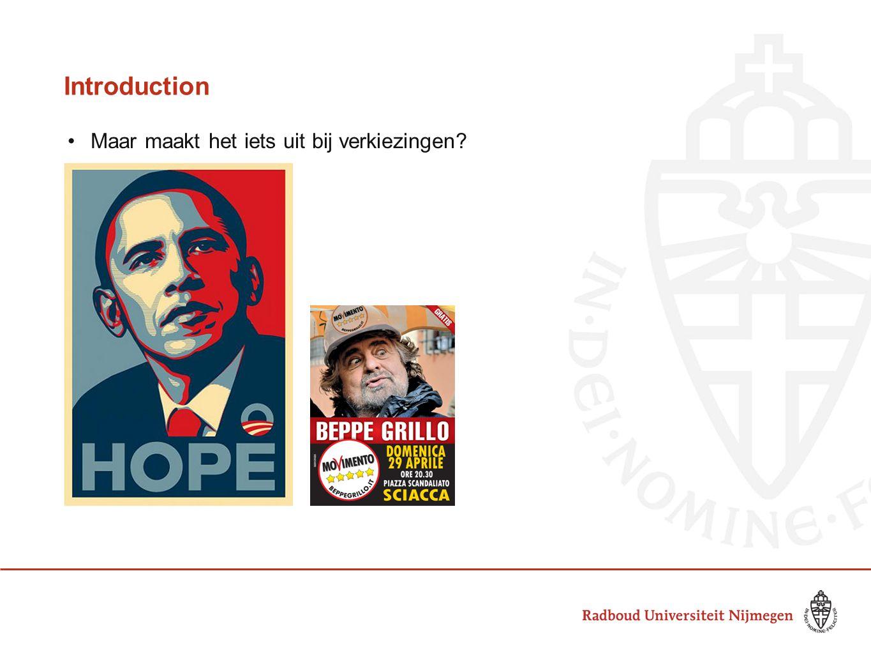 Introduction Maar maakt het iets uit bij verkiezingen?