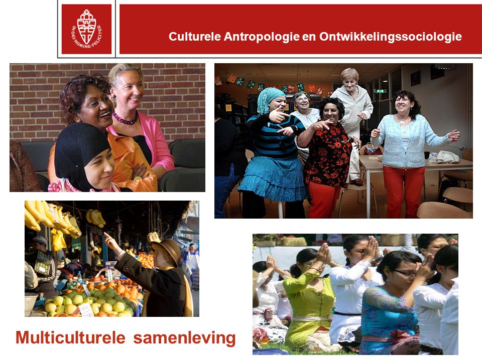 Culturele Antropologie en Ontwikkelingssociologie Multiculturele samenleving