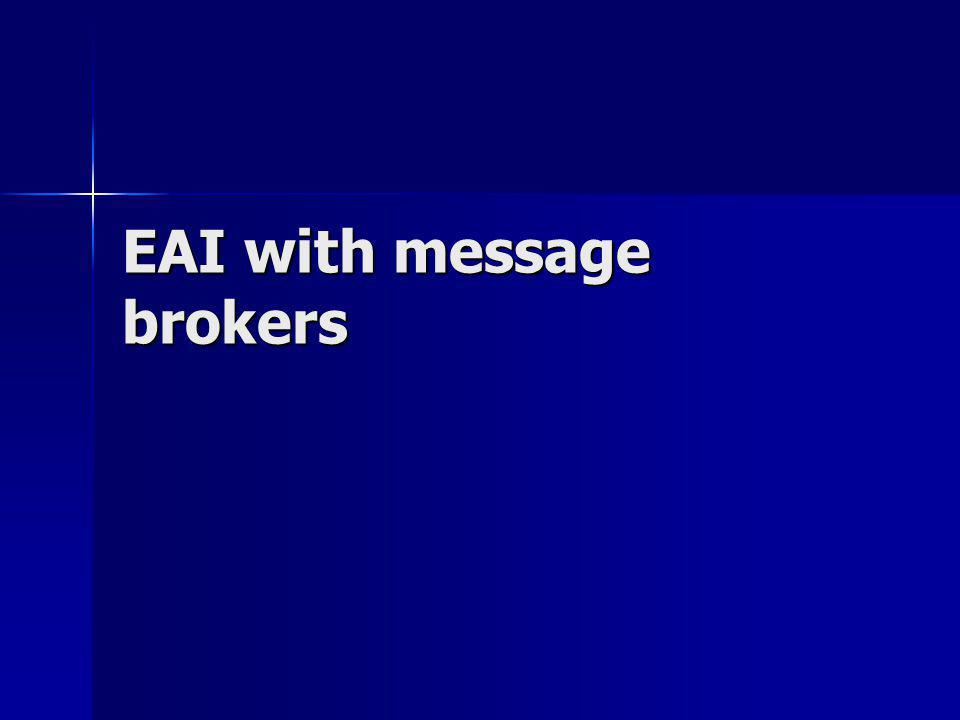 EAI with message brokers