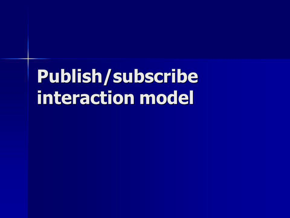 Publish/subscribe interaction model