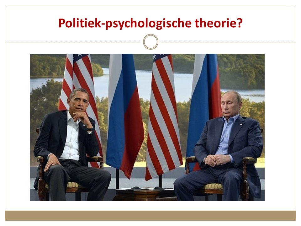 Politiek-psychologische theorie?