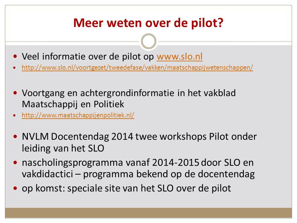 Meer weten over de pilot.