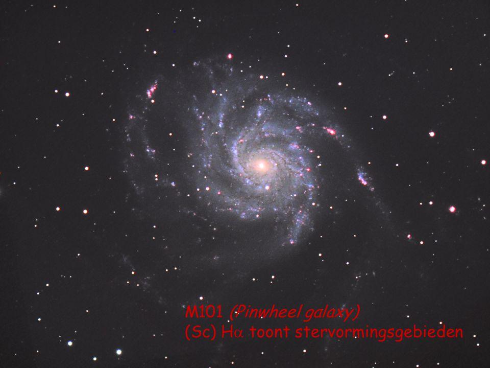 M101 (Pinwheel galaxy) (Sc) H  toont stervormingsgebieden