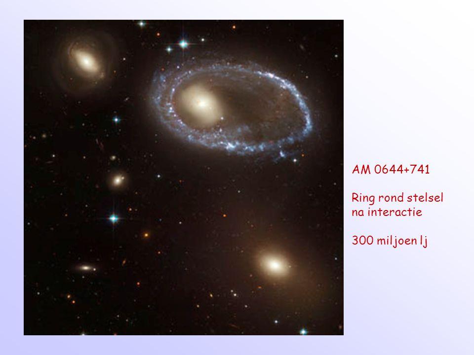 AM 0644+741 Ring rond stelsel na interactie 300 miljoen lj