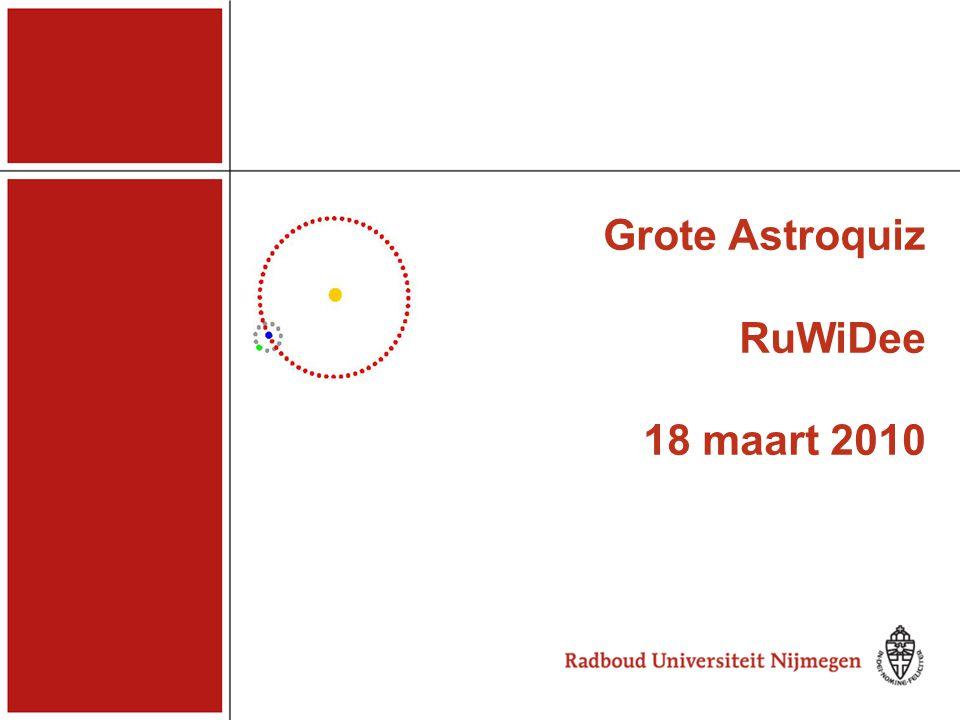 Grote Astroquiz RuWiDee 18 maart 2010