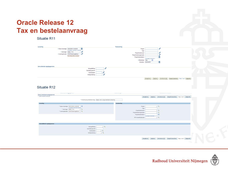 RLS12: TCA model crediteuren / debiteuren Trading Community Architecture (TCA) Crediteuren- en debiteurengegevens worden op een identieke manier vastgelegd De structuur is gelijk getrokken en geïntegreerd met het bankmodel Nieuwe schermen voor vastleggen van de stamgegevens