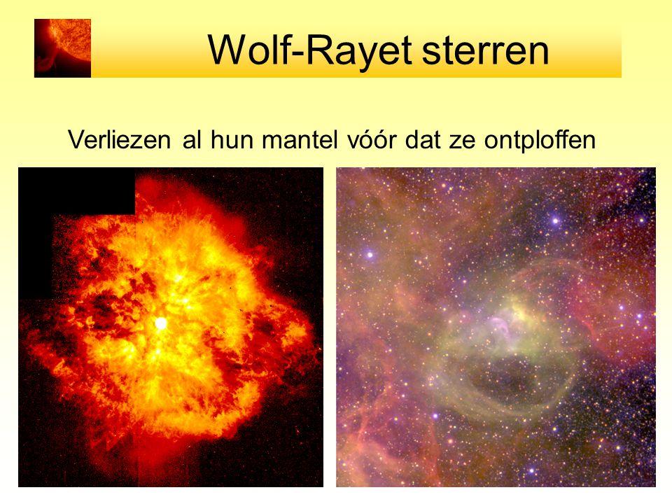 Wolf-Rayet sterren Verliezen al hun mantel vóór dat ze ontploffen