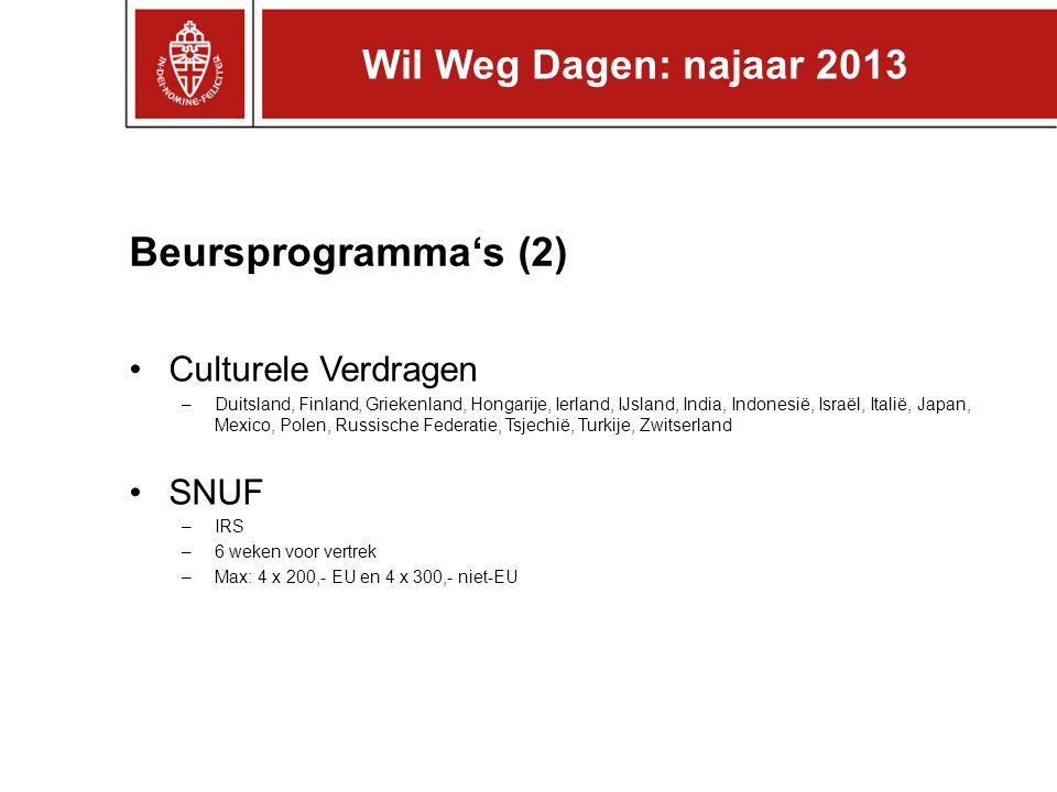 Beursprogramma's (3) VSBfonds Beurs –Studie of onderzoek na afronding Bachelor of Master aan Radboud Universiteit –Beurs max.