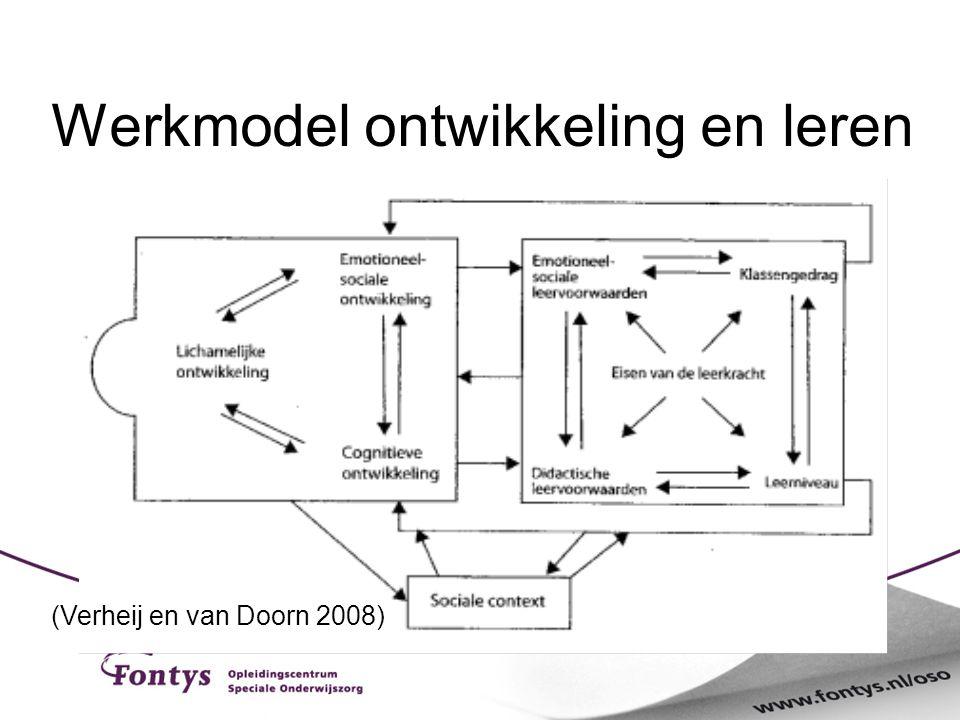 Werkmodel ontwikkeling en leren (Verheij en van Doorn 2008)