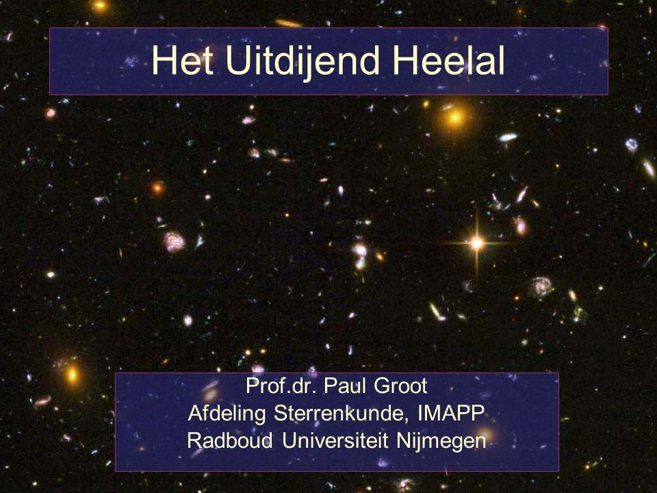 Het Uitdijend Heelal Prof.dr. Paul Groot Afdeling Sterrenkunde, IMAPP Radboud Universiteit Nijmegen