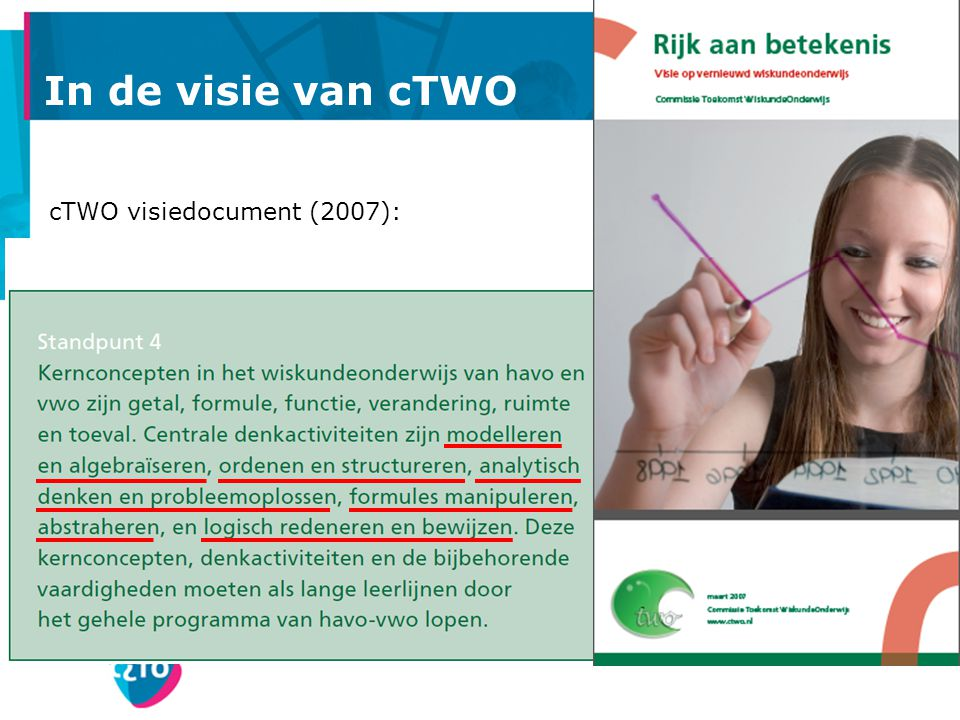 In de visie van cTWO cTWO visiedocument (2007):