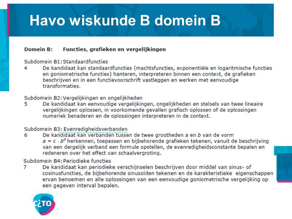 Havo wiskunde B domein C