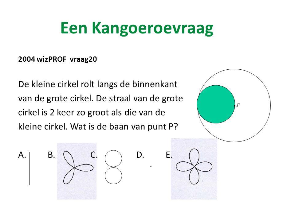 Een Kangoeroevraag 2004 wizPROF vraag20 De kleine cirkel rolt langs de binnenkant van de grote cirkel.
