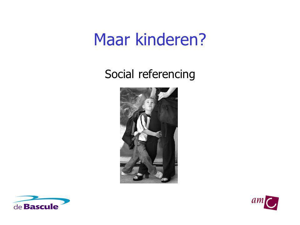 Maar kinderen? Social referencing