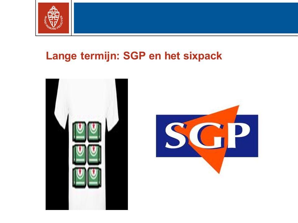 Lange termijn: SGP en het sixpack