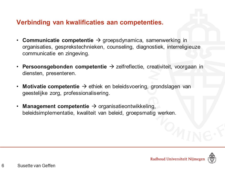 6Susette van Geffen Verbinding van kwalificaties aan competenties.