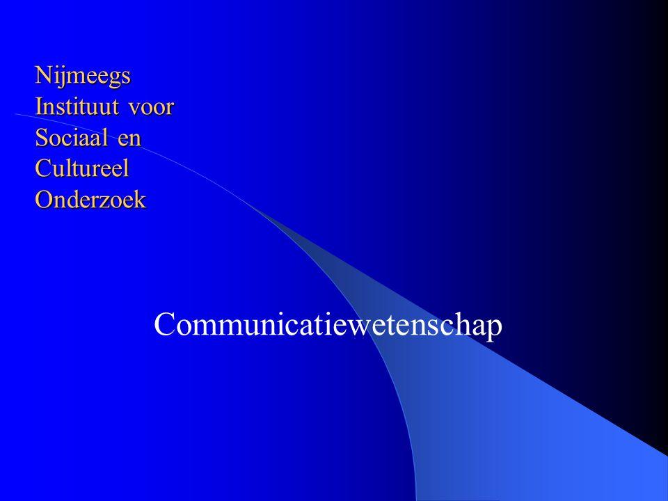 Nijmeegs Instituut voor Sociaal en Cultureel Onderzoek Communicatiewetenschap