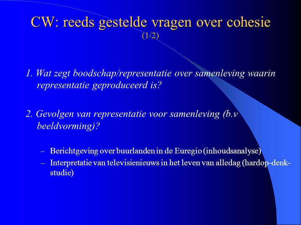 CW: reeds gestelde vragen over cohesie (1/2) 1.
