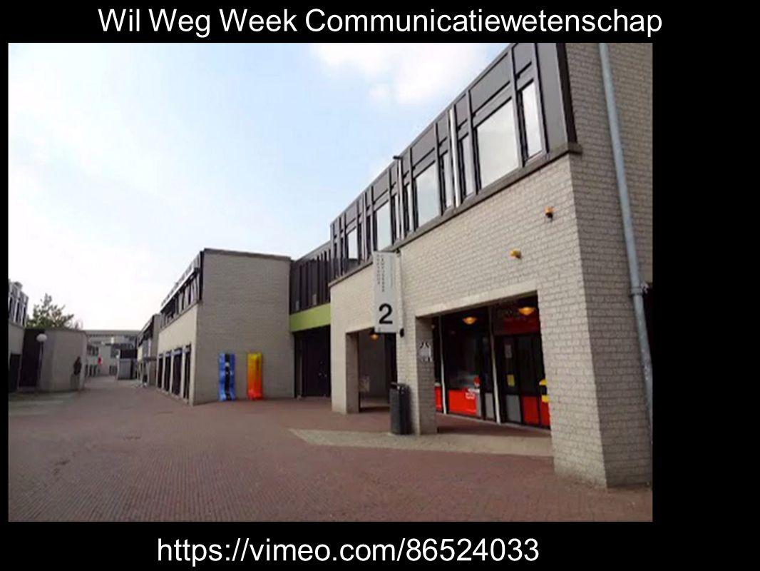 Wil Weg Week Communicatiewetenschaphttps://vimeo.com/86524033