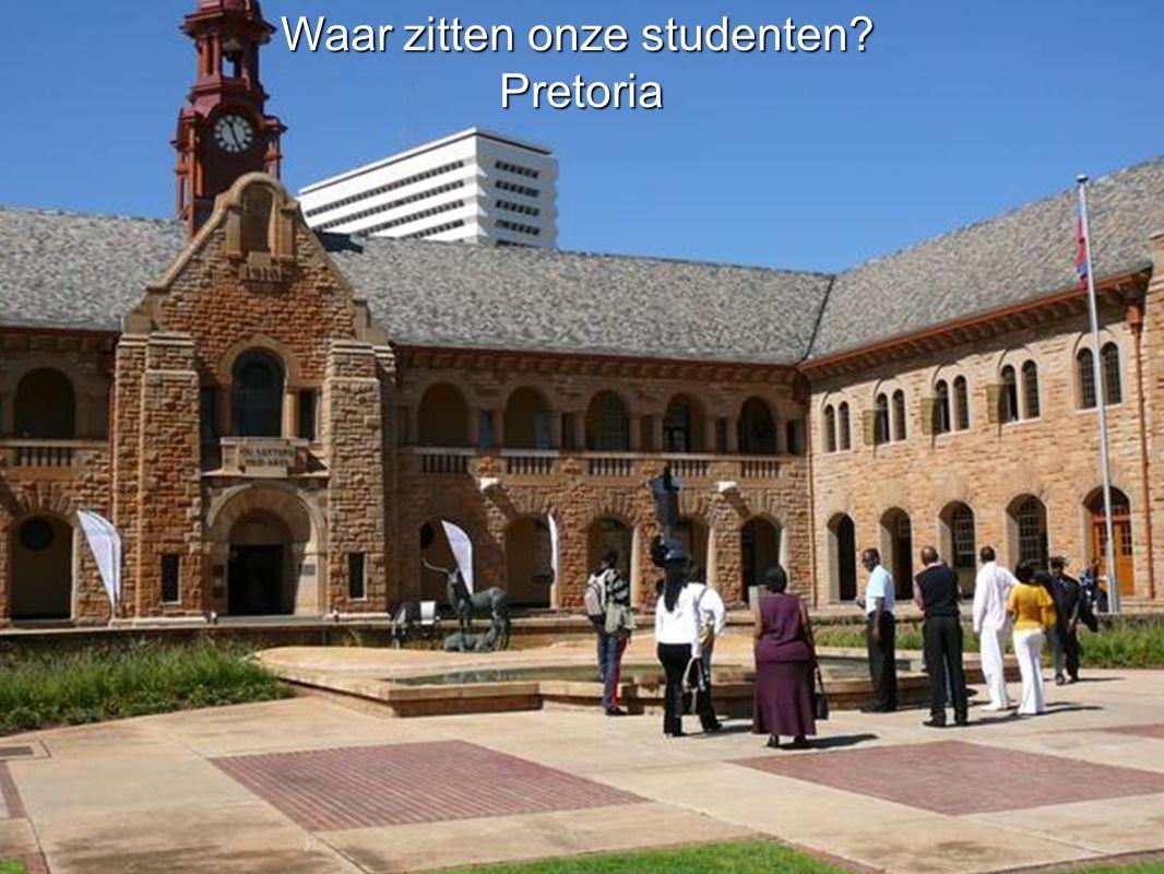 Waar zitten onze studenten Pretoria