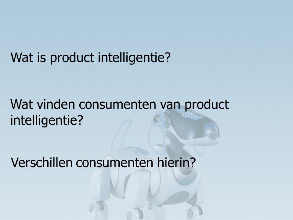Productintelligentie wekt argwaan (risico) Algemene bevinding