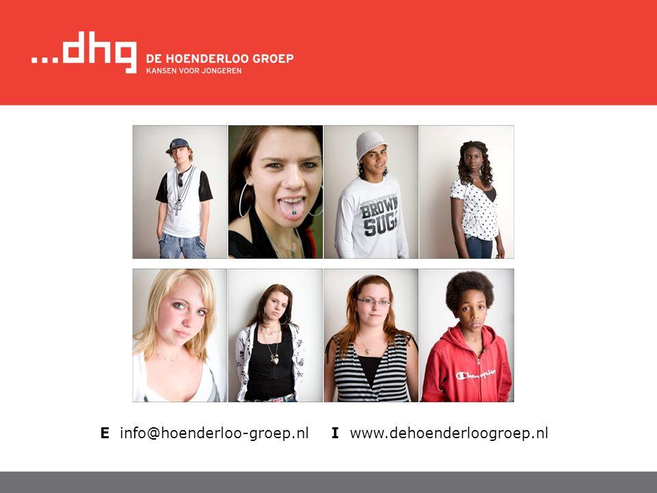 E info@hoenderloo-groep.nl I www.dehoenderloogroep.nl