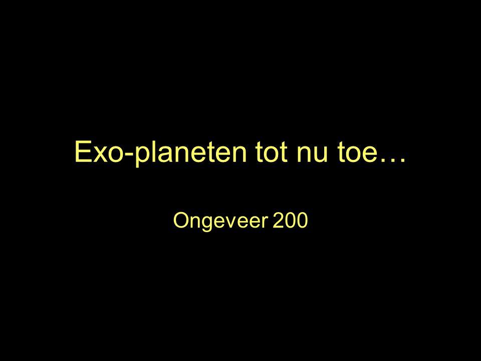 Exo-planeten tot nu toe… Ongeveer 200