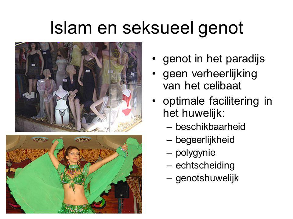 Islam en seksueel genot genot in het paradijs geen verheerlijking van het celibaat optimale facilitering in het huwelijk: –beschikbaarheid –begeerlijk