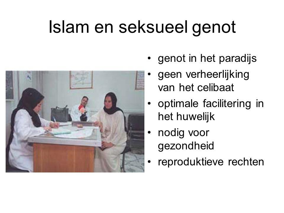 Islam en seksueel genot genot in het paradijs geen verheerlijking van het celibaat optimale facilitering in het huwelijk nodig voor gezondheid reproduktieve rechten