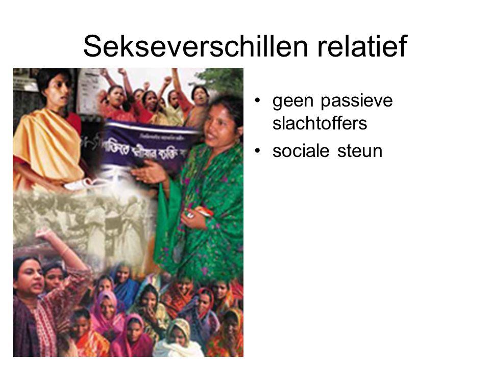 Sekseverschillen relatief geen passieve slachtoffers sociale steun